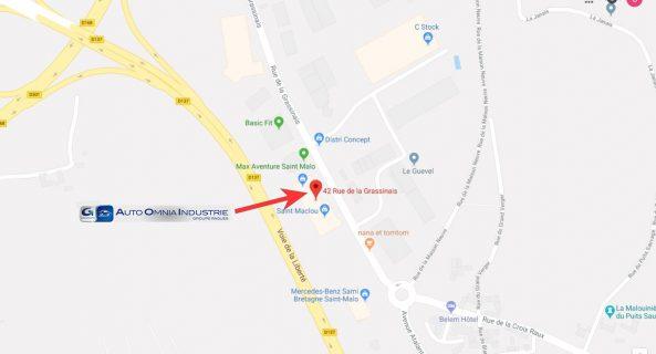 Carte Google montrant la position géographique de Ragues Malouine